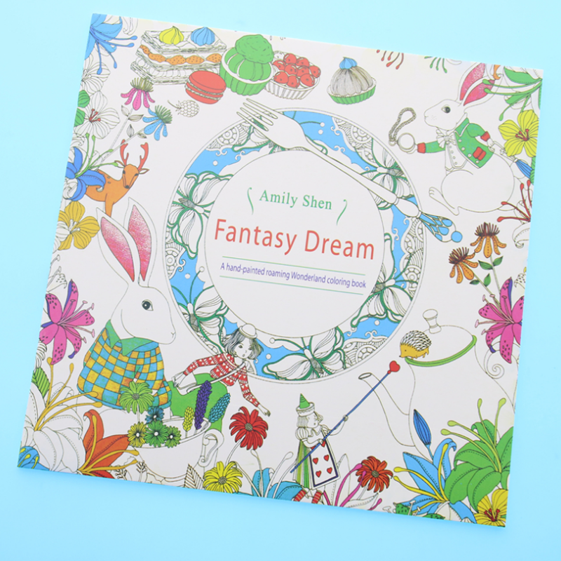 1pcs New 24 Pages Fantasy Dream English Edition Coloring Book For