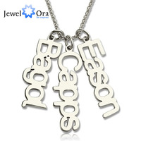 Cá nhân 925 Sterling Silver Tên Bài Viết Thương Hiệu Vòng Cổ Độc Đáo Tùy Chỉnh Tên Jewelry Món Quà Sinh Nhật (JewelOra NE101375)