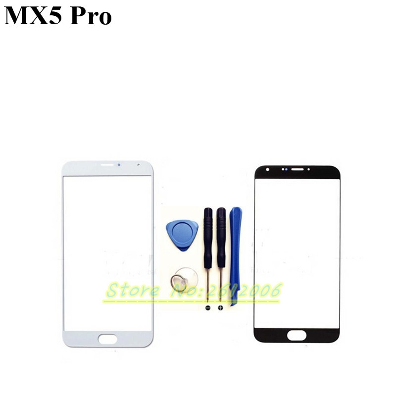 Yu Yu 3C Shop Store Black/White High Quality Front Panel For MEIZU MX5 pro Mobile Phone Outer Screen Glass Lens Replacement Repair Part+tools