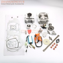 60cc Cylinder Kit Cylinder Head Assembly Cam AC CDI Tensioner Oil Pump for GY6 139QMB 50cc