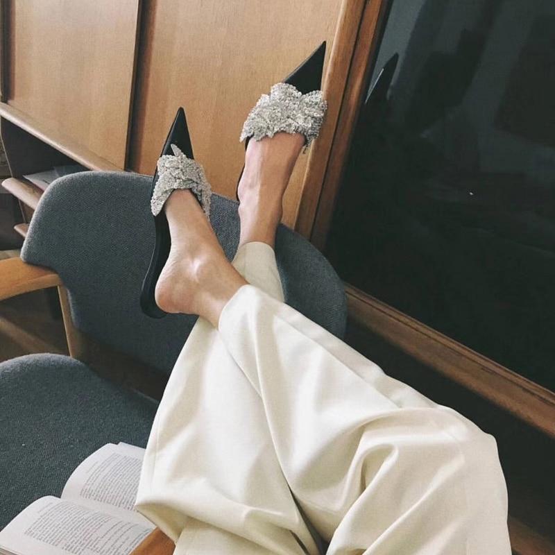 Pantoffeln Außerhalb Hausschuhe Design Rutschen Tipe Sommer Leder Crysta Pic As Heißer Frau 2018 Kappe Blume Bling Faul Schuhe Punkt fgq1CWa