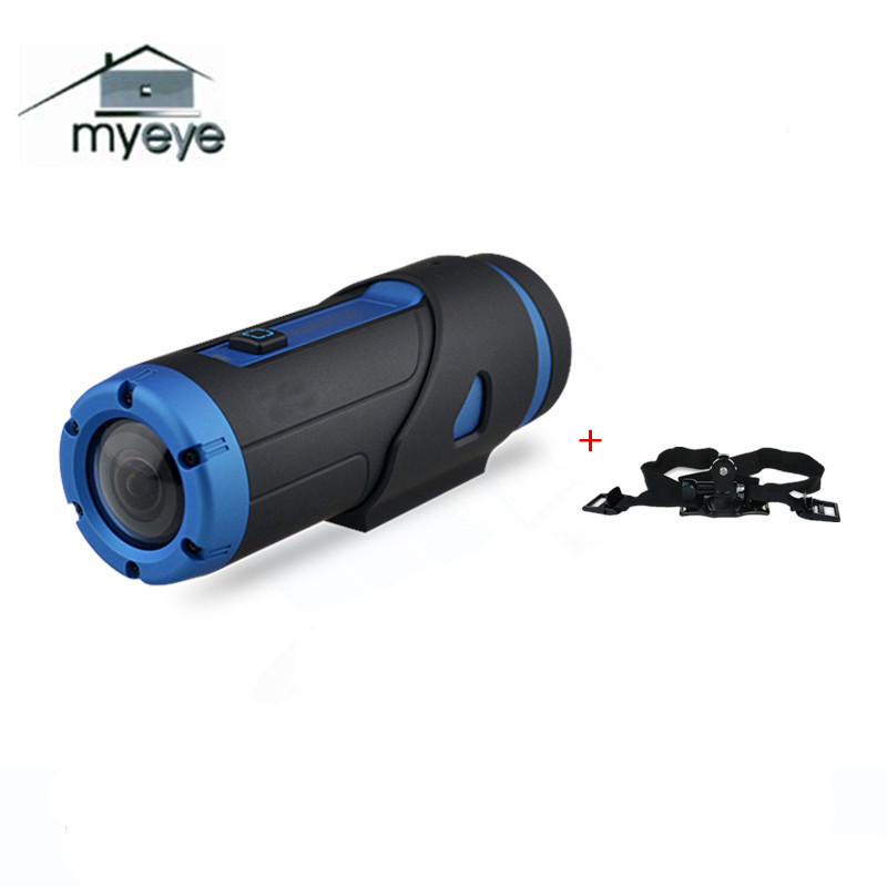 Myeye 1080P HD H.265 Waterproof Night Vision Action Camera With 32GB SD Card Wifi Video G-sensor Sport Camera With Helmet Strap good selling digital video camera with sd card up to 32gb