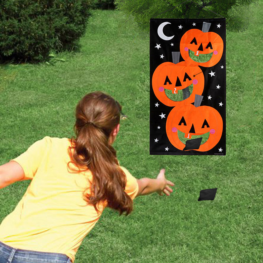 Swell Us 14 11 44 Off Halloween Party Hanging Toss Game Pumpkin Bag For Throwing With Bean Bag In Party Diy Decorations From Home Garden On Aliexpress Onthecornerstone Fun Painted Chair Ideas Images Onthecornerstoneorg