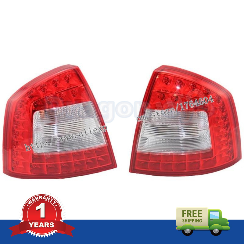 2 PCS For SKODA Octavia A6 RS 2009 2010 2011 2012 2013 New OEM Original Pair Of  LED Car Rear Lights Tail Light 1 Year Warranty car usb sd aux adapter digital music changer mp3 converter for skoda octavia 2007 2011 fits select oem radios