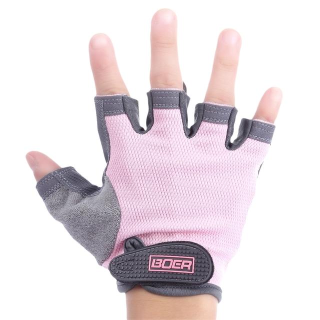 Pastel Color Half Finger Gym Gloves 2colors