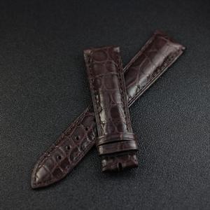 Image 3 - ZLIMSN Double Crocodile Skin Strap Quick Installation Brown Black for Mens Women Luxury Watch Band Size 18mm 20mm 22mm