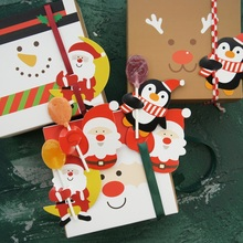 new 25pcs lollipop cover Christmas Santa penguin design candy decorate holiday gift packaging