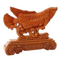 Long Yi Mahogany Dragon Fish Ornaments Ichthyosaurs Lucky Wood Carving Decoration Decoration Craft Gift Home Furnishing