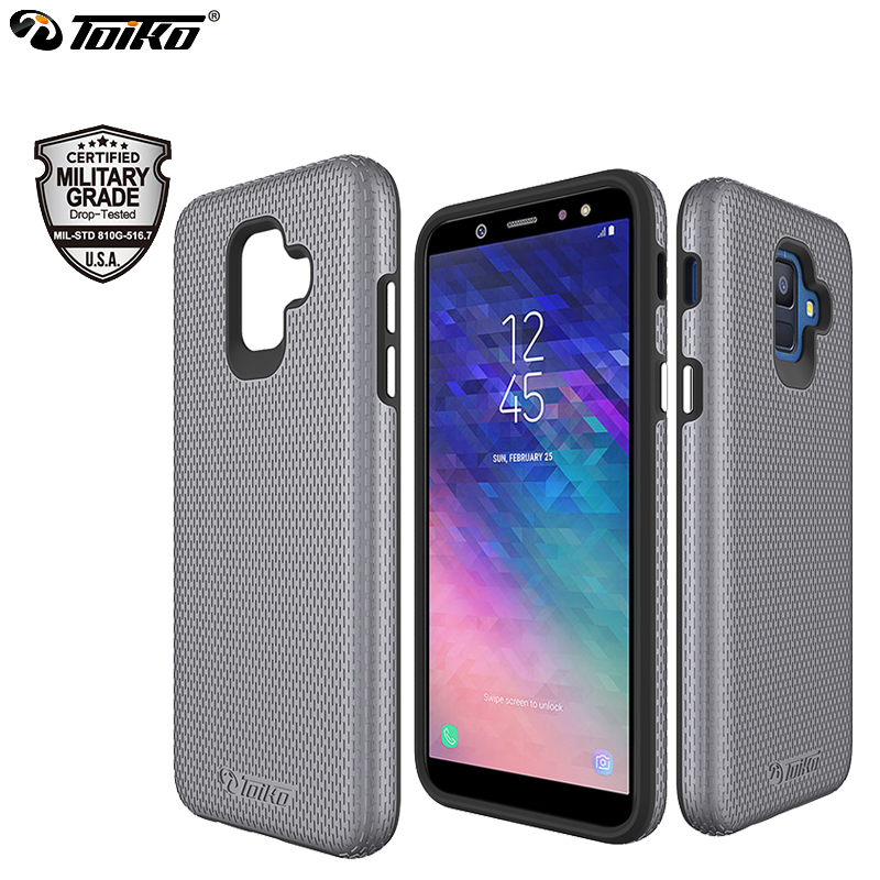 TOIKO X Guard 2 in 1 Case for Samsung Galaxy A6 2018 Hard PC Soft TPU Hybrid Protective Shell Shockproof Phone Accessories CoverTOIKO X Guard 2 in 1 Case for Samsung Galaxy A6 2018 Hard PC Soft TPU Hybrid Protective Shell Shockproof Phone Accessories Cover