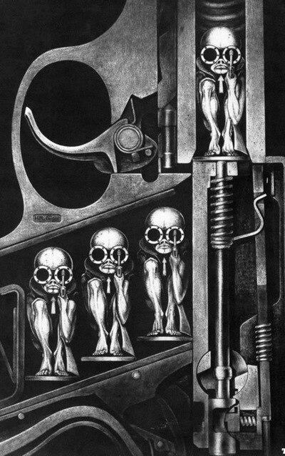 Tableaux de peintres 24X36-POUCES-Guns-Machines-Illustration-Naissance-H-R-Giger-Art-Soie-Affiche-21-.jpg_640x640