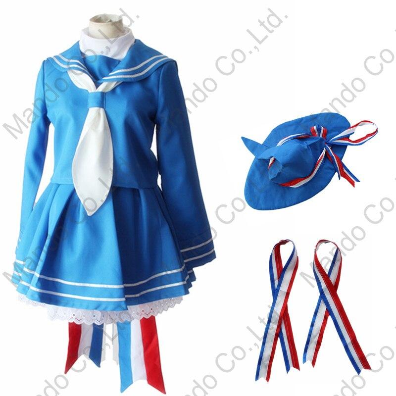 Anime RPG Wadanohara et la grande mer bleue sorcière Cosplay Costumes robe Halloween pour les femmes Wadanohara bleu marin uniforme