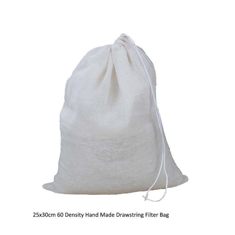 2018 Organizador Rangement 10pcs/lot 25x30cm 60 Density Hand Made Drawstring Filter Bag Gunny Bale (hessian Bag) Water Boil