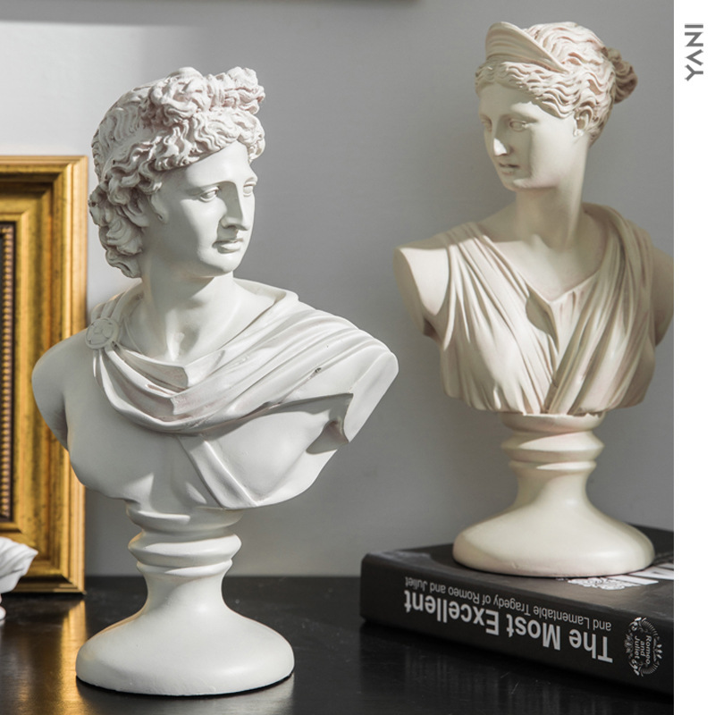 Venus Bust Statue Figure Goddess Ceramic Craftwork Living Room Decor Roman Mythology Gift L2938