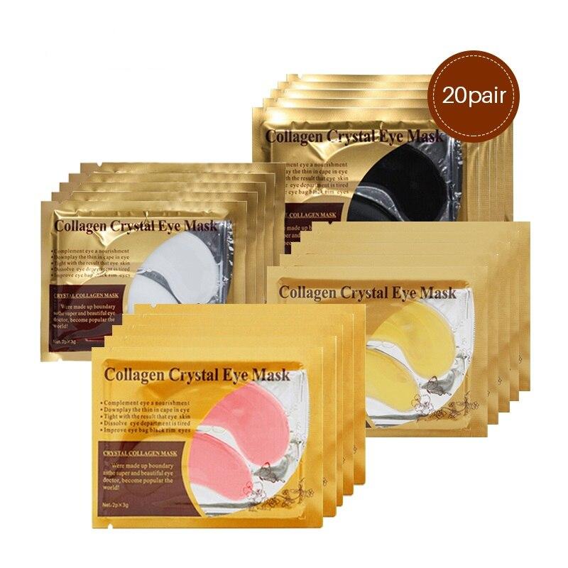 где купить 24K Gold Collagen Eye Mask Remove Dark Circle Puffiness Eye Bag Anti-Aging Anti Wrinkle Eye Patches Skin Care Cream 40pcs=20pair по лучшей цене
