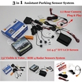 "For Renault Megane I 1996~2009 - Car Parking Sensors + Rear View Camera + 4.3"" LCD Screen = 3 in 1 Visual Alarm Parking System"