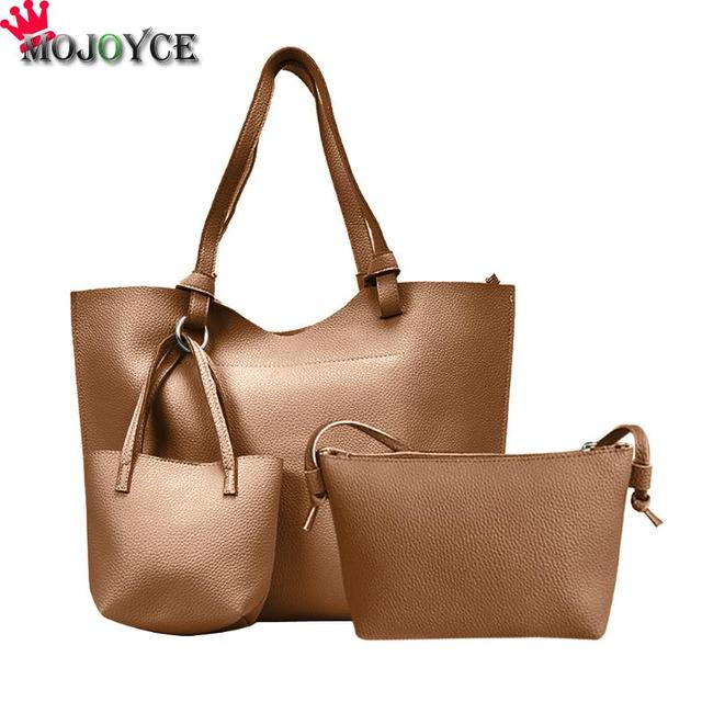 Three Pieces Women Bag Soft Pu Leather Handbags Female Shoulder Bags Fashion S Small Crossbody