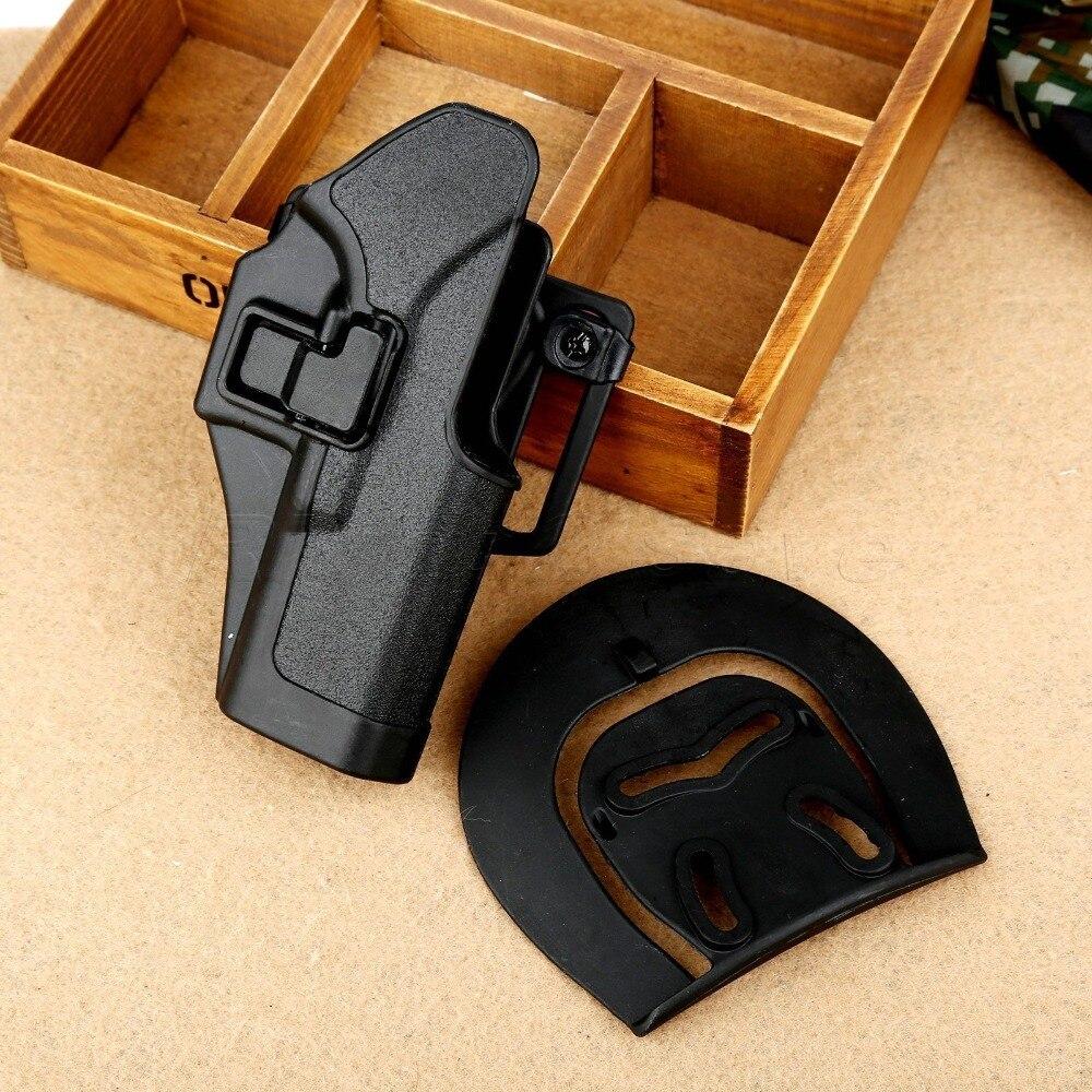 C Q C Black Holster Tactical hunting Airsoft RH Belt Gun Holster for Glock 17 18 19 23 32 36C Q C Black Holster Tactical hunting Airsoft RH Belt Gun Holster for Glock 17 18 19 23 32 36