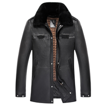 Real Sheepskin Leather Genuine leather Jacket Men s Black Jacket Leather Garment Business Casual Leather Jacket
