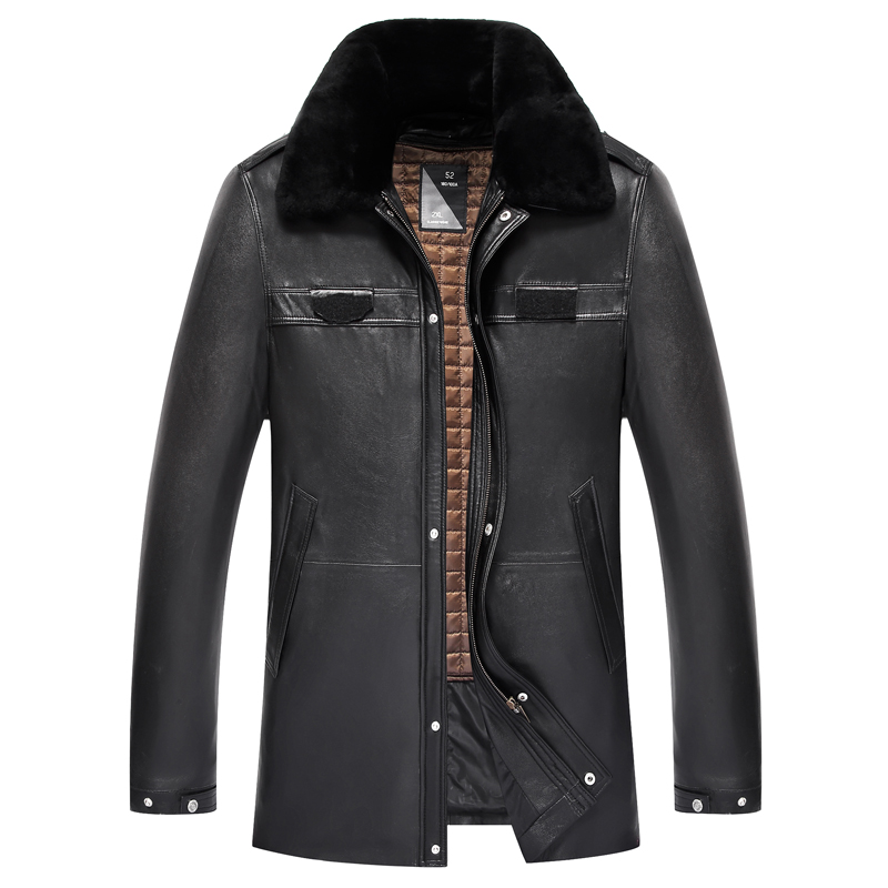 Real Sheepskin font b Leather b font Genuine font b leather b font font b Jacket