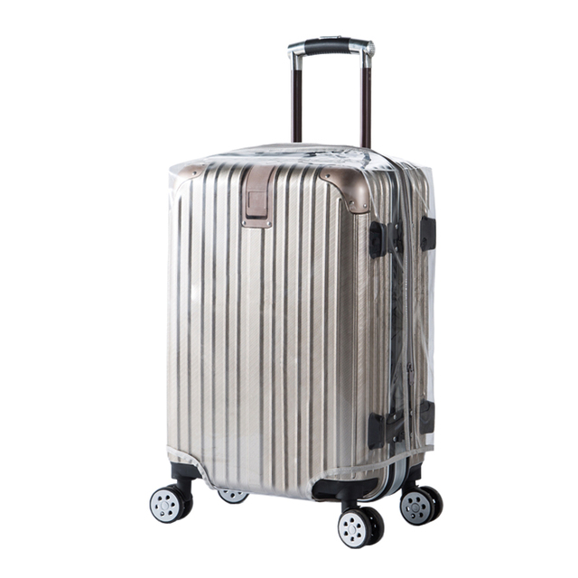 ea4d1a044 PVC Luggage Protective Sleeve Thicken Trolley&Suitcase Covers Transparent  Without Detachable 26-30inch With Zipper
