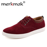 Merkmak Brand Men Casual Shoes Big Size 39 49 Comfortable Spring Autumn Fashion Breathable Suede Leather