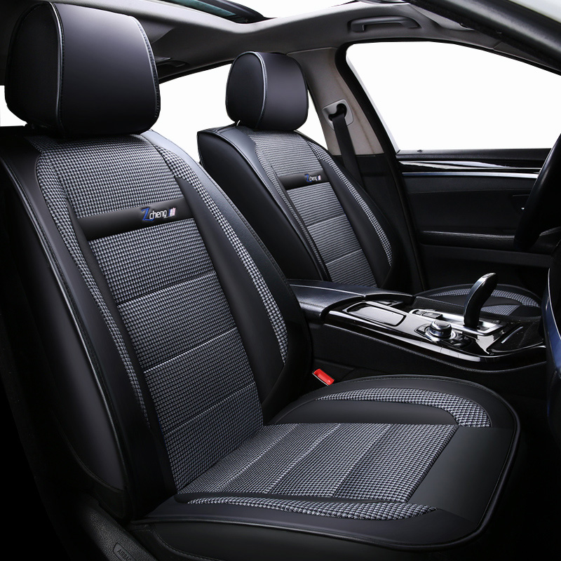 New Luxury leather Universal car seat cover for lada granta vesta priora kalian largus xray niva Car seat protector car cushion 2 pcs car laser projector logo ghost shadow light universal for lada priora granta kalina niva largus for gaz samara