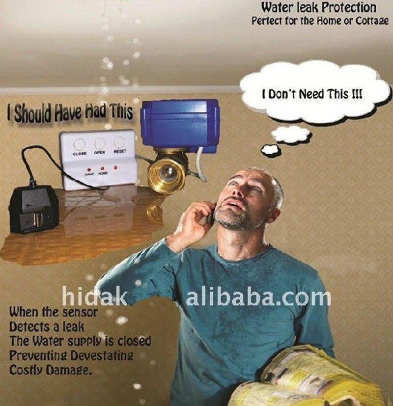 Prevent Water Loss Water Leakage Detetor Sensor Alarms Water Saver HIDAKA WLD 806 DN15 single valve