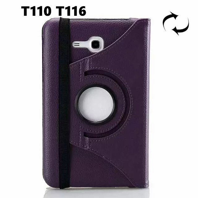 T113 T116 360 Degree rotating Folio PU Leather Case Flip Cover For Samsung Galaxy Tab3 7.0 Lite T110 T111 Tablet case