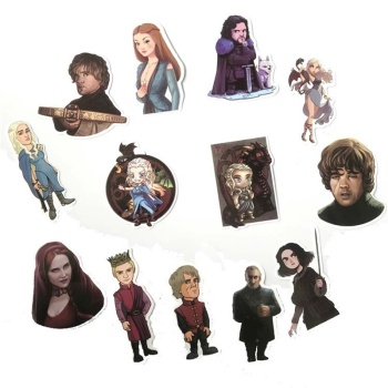 61pcs Movie Game of Thrones Suitcase Decal Sticker Cartoon DIY Scrapbook Craft Decor cosplay prop 1