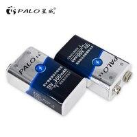 PALO 2 шт. 9 В батарея запчасти bateria 6F22 однополые сухие Аккумуляторы ni mh 300 мАч 9 В перезаряжаемый аккумулятор для радио камера игрушки и т. д.