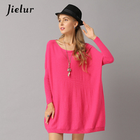 Jielur Large Size Batwing Sleeve Knitted Lady S Sweater Loose Solid Color Women Sweaters And Pullovers