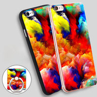 colorful cloud Soft TPU Silicone Phone Case Cover for iPhone 5 SE 5S 6 6S 7 Plus