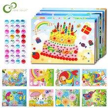 4 шт./лот, сделай сам, бриллиантовые наклейки, ручная работа, кристальная паста, мозаика, головоломка, игрушки, разные цвета, детские наклейки, игрушка в подарок, WYQ
