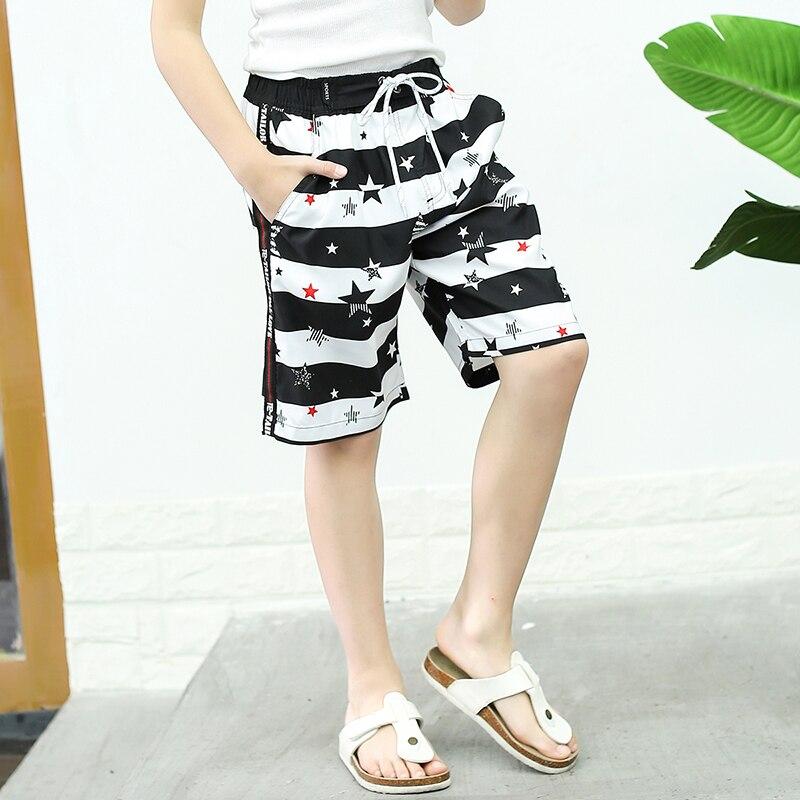 Brand New 2019 Quick-Dry Summer Casual Board Shorts Boys Striped Swim Shorts Swimwear Beach Wear Sports Five Pants Plus Size 2XL