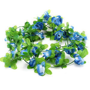 Image 4 - Fake Silk Roses Flower Ivy Vine Artificial Flowers With Green Leaves For Home Wedding Decoration Hanging Garland Home Decor
