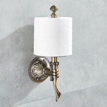욕실 종이 홀더 벽 마운트 클래식 골동품 청동 화장지 홀더 수건 종이 랙 욕실 액세서리