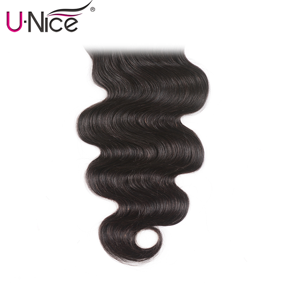 Unice Hair Swiss Transparent Lace Closure Brazilian Body Wave 5x5 Hair Lace Closure Natural Black Remy Human Hair 10-18 Inch