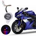 Moto de la motocicleta Cáscara Del Metal Palanca de Doble Color LED Tacómetro Digital Fuel Oil Gauge 12 V Accesorios de Motos