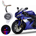 Motorcycle Motorbike Metal Shell Double Color LED Digital Tachometer Oil Fuel Lever Gauge 12V Motorcycle Accessories