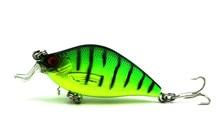 HENGJIA 6.5cm 8.4g Artificial Bass Fishing Lures 3d Fish Eye Plastic Hard Baits Laser Crank Bait Reflective Fake Lure CB015