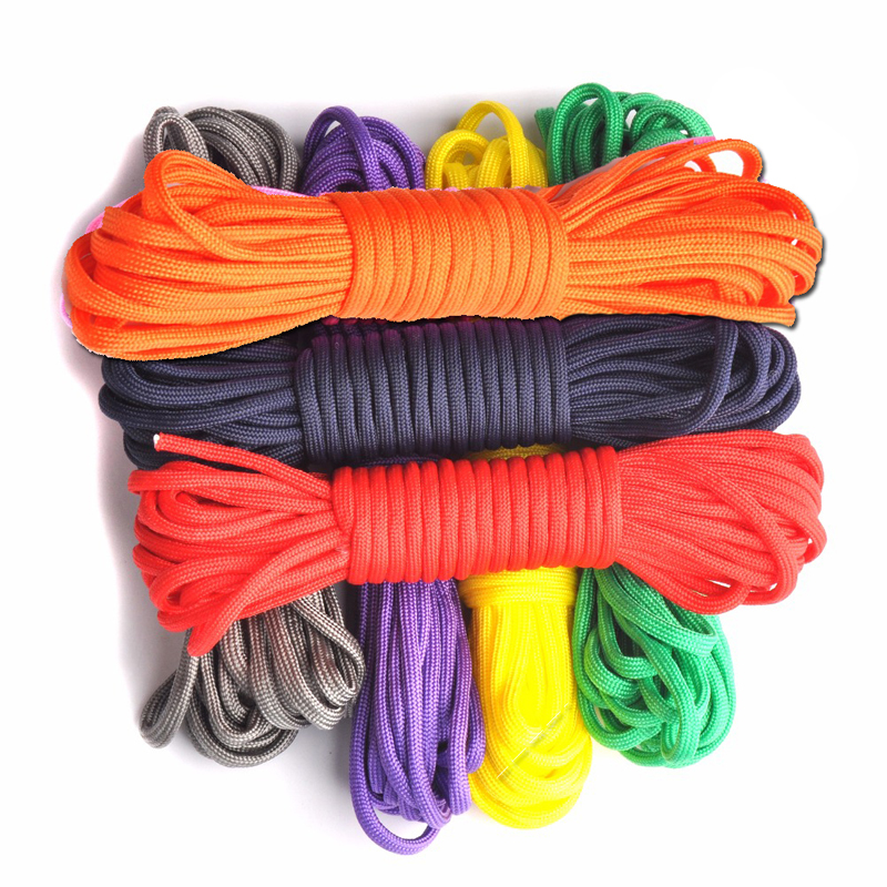 50ft//15m Dia 2mm One Stand Cores Outdoor Paracord Parachute Cord Lanyard Ropes