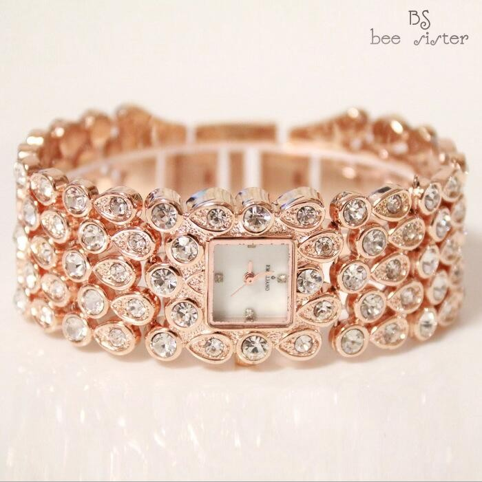 2017 Hot Sales Women Full Rhinestone Klockor Lady Shining Dress Watch - Damklockor - Foto 4