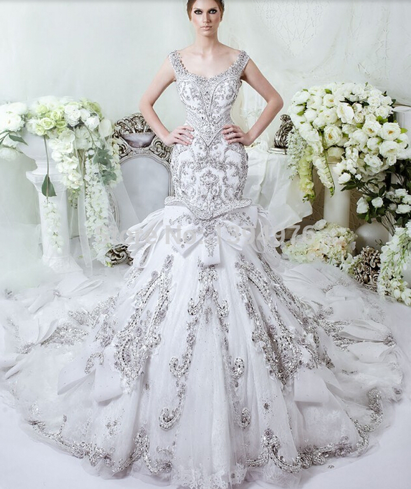 Mermaid Wedding Dresses With Diamonds : Diamond mermaid wedding dress from china