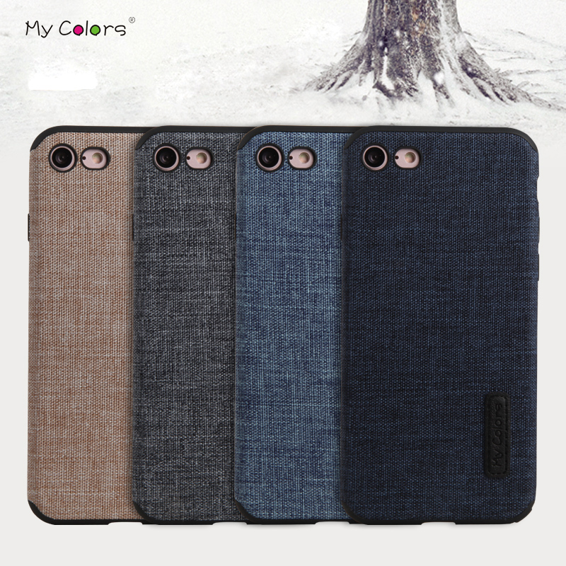 Case for iPhone 7 7 Plus Luxury Non slip Cotton Cloth Anti knock Soft TPU Back