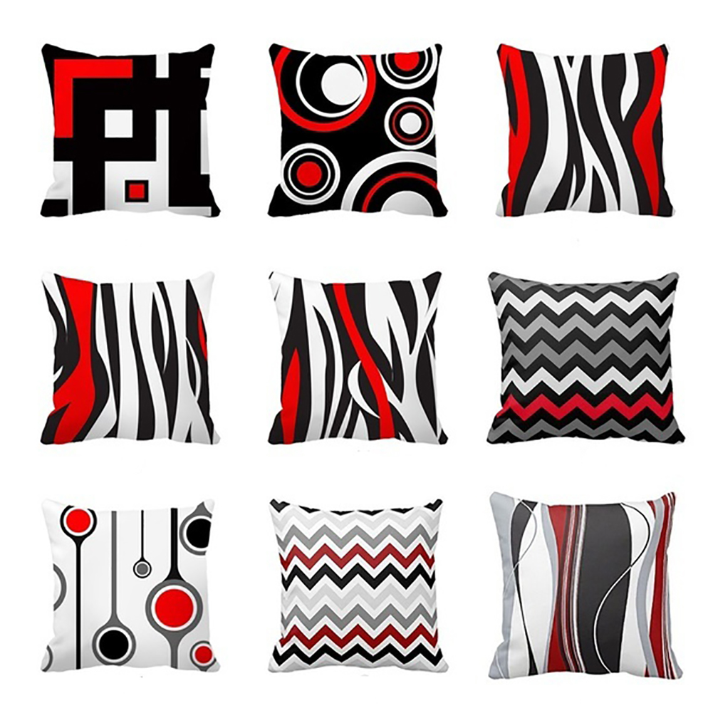 Creative Geometric Pattern Pillow Case Decorative Cushion Cover for Sofa Couch
