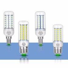 E14 Led Lamp 220V SMD 5730 Bulb E27 Energy Saving Corn Light 24 36 48 56 69 72leds GU10 ampoule led Home Chandelier Lighting