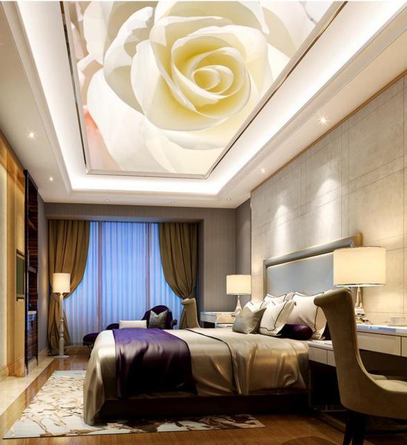 Einfache Decke Mural Rose Tapeten Fur Wohnzimmer Decke Vlies Tapete
