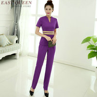 Hospital nursing uniform pants suit medical nurse scrub clinical massage beauty salon beautician uniforms DD440 F