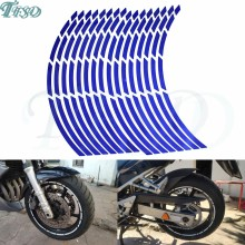"Auto motorfiets Band Velg Stickers 17 ""-19"" Reflecterende Wheel Tyre Sticker Decors Voor Yamaha FZ6 FAZER FZ6R FZ8 FZ1 FAZER XJ6(China)"