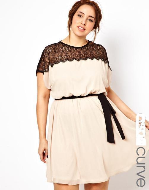 8ba47a18380e Plus size women dress 6xl big size female casual loose vestidos 2016 summer  new design lace patchwork short sleeve ladies cloth